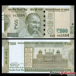 INDE - Billet de 500 Roupies - 2016