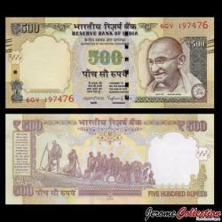 INDE - Billet de 500 Roupies - Mahatma Gandhi - 2015 P106g1 - Sans Lettre