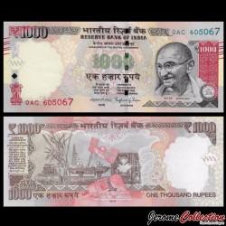 INDE - Billet de 1000 Roupies - Mahatma Gandhi - 2016
