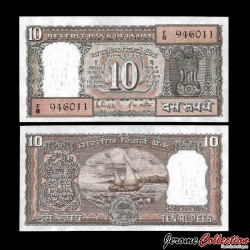INDE - Billet de 10 Roupies - 1985 / 1990