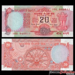 INDE - Billet de 20 Roupies - 1970 / 2002