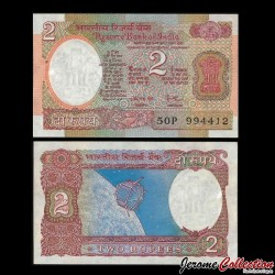 INDE - Billet de 2 Roupies - Satellite Aryabhata 1975 / 1996