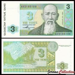 KAZAKHSTAN - Billet de 3 Tenge - 1993