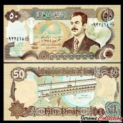 IRAK - Billet de 50 Dinars - Saddam Hussein - 1994