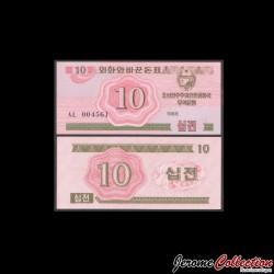C0REE DU NORD - Billet de 10 CHON - 1988