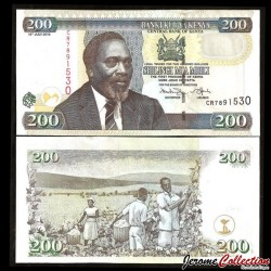 KENYA - Billet de 200 Shilingi / Shillings - 16.07.2010