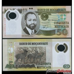 MOZAMBIQUE - Billet de 50 Meticais - Polymer - 2011