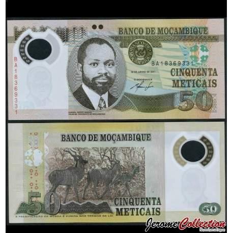 MOZAMBIQUE - Billet de 50 Meticais - Polymer - 2011 P150a