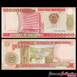 MOZAMBIQUE - Billet de 100000 Meticais - 16.06.1993