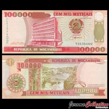 MOZAMBIQUE - Billet de 100000 Meticais - 16.06.1993 P139a