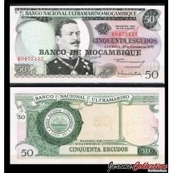 MOZAMBIQUE - Billet de 50 Escudos - 27.10.1970 (1976) P116a