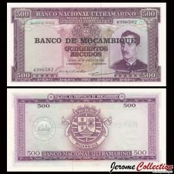 MOZAMBIQUE - Billet de 500 Escudos - 22.03.1967 (1976) P118a