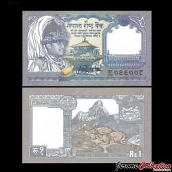 NEPAL - Billet de 1 Roupie - Cerfs - 1995 P37b