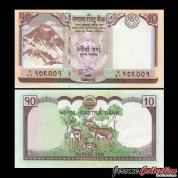NEPAL - Billet de 10 Roupies - 2012