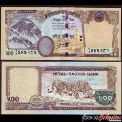 NEPAL - Billet de 500 Roupies - 2012