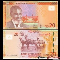 NAMIBIE - Billet de 20 Dollars - Dr. Sam Nujoma - 2015 P17a