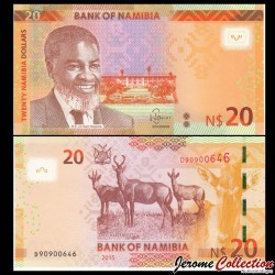 NAMIBIE - Billet de 20 DOLLARS Namibiens - 2015