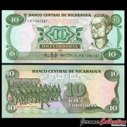 NICARAGUA - Billet de 10 Córdobas - 1985
