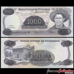 NICARAGUA - Billet de 500000 Córdobas - 18.11.1987 P150a