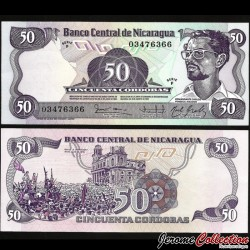 NICARAGUA - Billet de 50 Córdobas - 06.08.1984 P140a