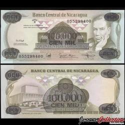 NICARAGUA - Billet de 100000 Córdobas - 18.11.1987
