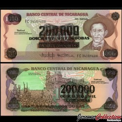 NICARAGUA - Billet de 200000 Córdobas - 1985 (1990)