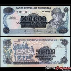 NICARAGUA - Billet de 500000 Córdobas - 1985 (1990)