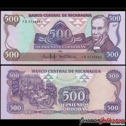 NICARAGUA - Billet de 500 Córdobas - 1985