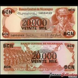 NICARAGUA - Billet de 20000 Córdobas - 18.11.1987 P147a