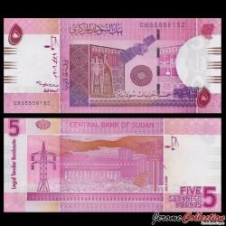 SOUDAN - BILLET de 5 Livres Soudanaise - 2006