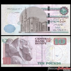 EGYPTE - Billet de 10 Pounds - Pharaon Chéphrem - 9/05/2017