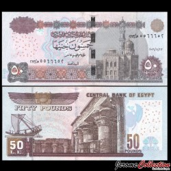 EGYPTE - Billet de 50 Pounds - Temple d'Edfou - 23/11/2016