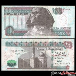 EGYPTE - Billet de 100 Pounds - Sphinx - 31/12/2016