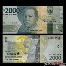 INDONESIE - Billet de 2000 Rupiah - 2016 - Billet de Remplacement X