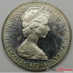 ÎLES VIERGES BRITANNIQUES - PIECE de 10 Cents - Martin-pêcheur - 1973
