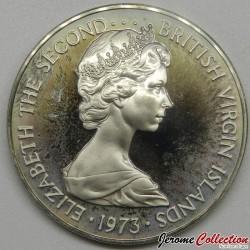 ÎLES VIERGES BRITANNIQUES - PIECE de 25 Cents - Coucou - 1973