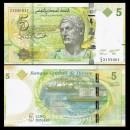 TUNISIE - Billet de 5 Dinars - 2013