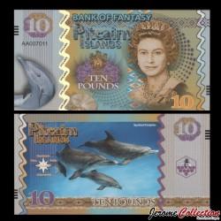 PITCAIRN - Billet de 10 Pounds - Dauphins- 2017