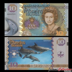 PITCAIRN - Billet de 10 Pounds - Dauphins- 2017