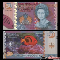 PITCAIRN - Billet de 50 Pounds - Centropyge loricula - 2017 0050