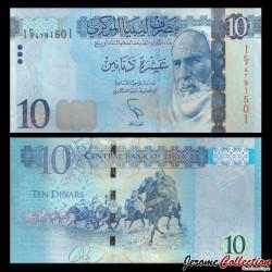 LIBYE - Billet de 10 Dinars - Omar el Mukhtar - 2015 P82a