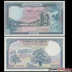 LIBAN - Billet de 100 Livres - Palais de Beiteddine - 1988 P66d