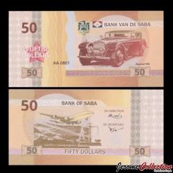 Saba - Billet de 50 DOLLARS - Bucciali tav - 2015