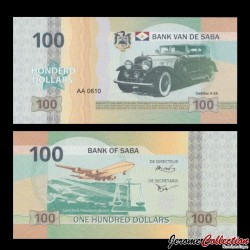 Saba - Billet de 100 DOLLARS - Cadillac V-16 - 2015
