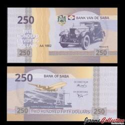 Saba - Billet de 250 DOLLARS - Minerva AL - 2015
