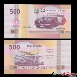 SABA - Billet de 500 DOLLARS - ADR Bergmeister - 2015 0500