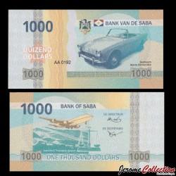 SABA - Billet de 1000 DOLLARS - Sunbeam Alpine Convertible - 2015 1000
