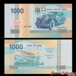 Saba - Billet de 1000 DOLLARS - Duensenberg Model J - 2015