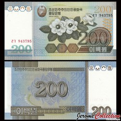 COREE DU NORD - Billet de 200 Won - 2005