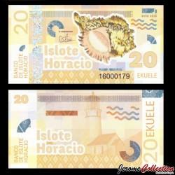 ISLOTE HORACIO / GUINEE EQUATORIALE - Billet de 20 Ekuele - Coquillage - 2016